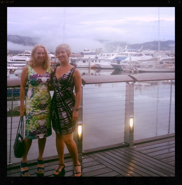 The obligatory glam shot: me and Julianne Taylor from Paleo Zone Nutrition who was our special guest. Post workshop dinner at Cairns marina