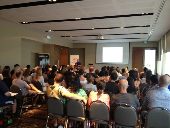 Jamie dropping some knowledge bombs to a full house in Cairns