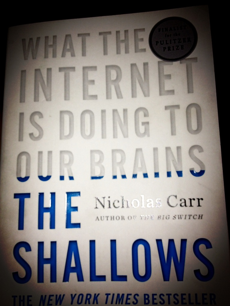 nicholas carr essay Nicholas carr says, in his book, the shallows, that because of his constant use of computers and the internet, he has become unable to concentrate on one.